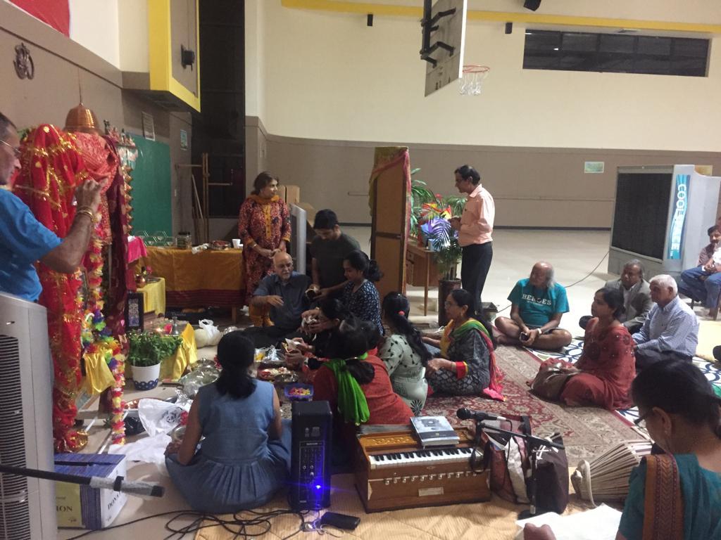 members of community built by Aum Spiritual center in Hemet,CA